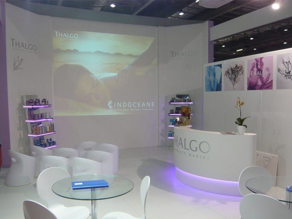 Thalgo display at Pro Beauty London with Arrow Technik